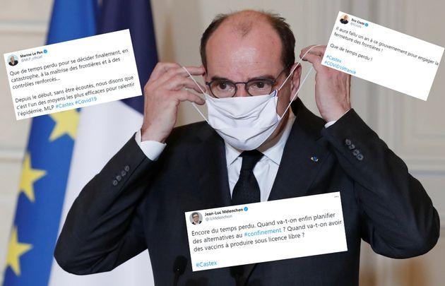 Jean Castex, à l'Élysée à Paris, le 29 janvier 2021. (montage Le