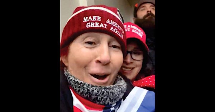 Dawn Bancroft and friend Diana Santos-Smith are captured on Bancroft's selfie video in a photo submitted in the criminal comp