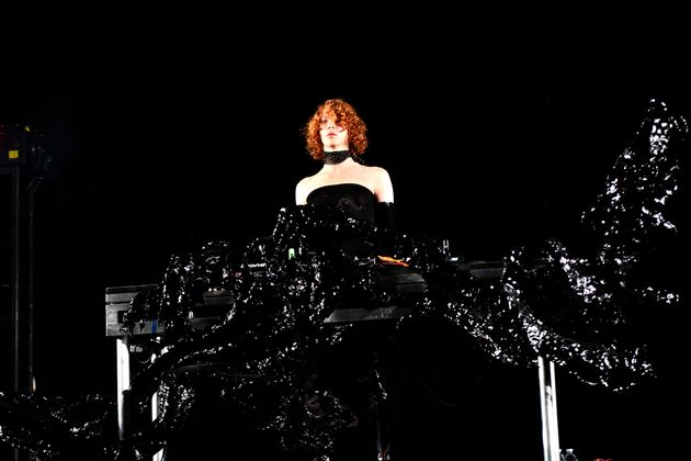 Sophie performing at Coachella in