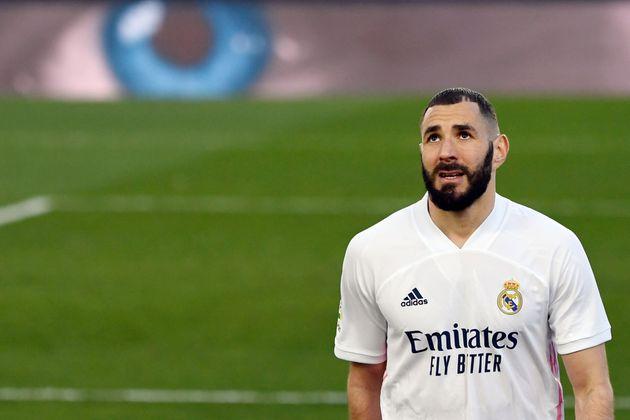 Benzema, durante el partido contra el