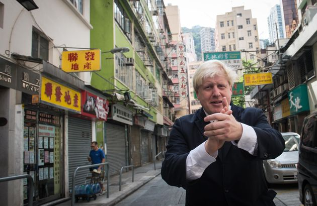London Mayor Boris Johnson in Hong Kong on the final day of a week long visit to China to promote trade...