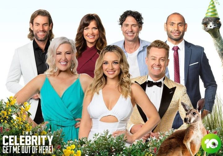 'I'm A Celebrity... Get Me Out Of Here!' finalists L to R: Ash Williams, Jess Eva, Toni Pearen, Abbie Chatfield, Colin Fassnidge, Grant Denyer and Travis Varcoe