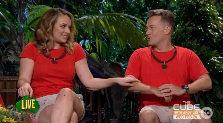 'I'm A Celebrity... Get Me Out Of Here!' grand finalists Abbie Chatfield and Grant Denyer