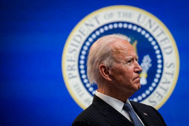 WASHINGTON, DC - JANUARY 25: U.S. President Joe Biden speaks after signing an executive order related...