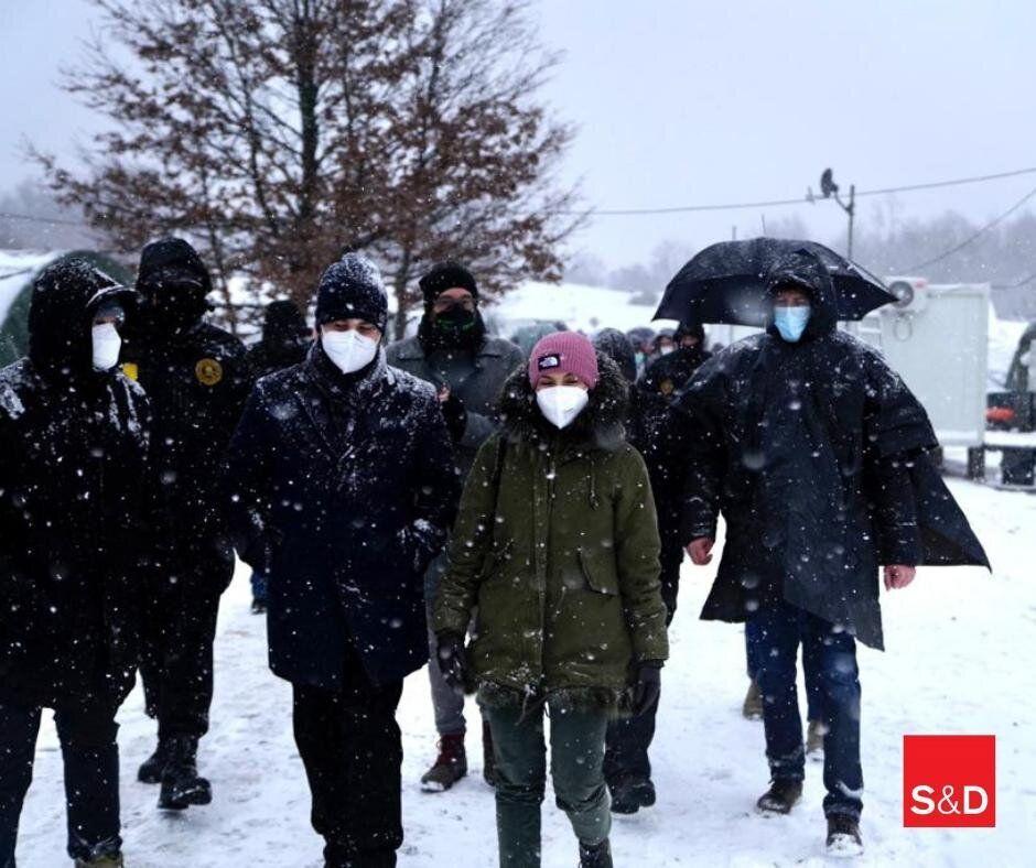 La delegazione degli europarlamentari Pd in missione sulla rotta balcanica dei