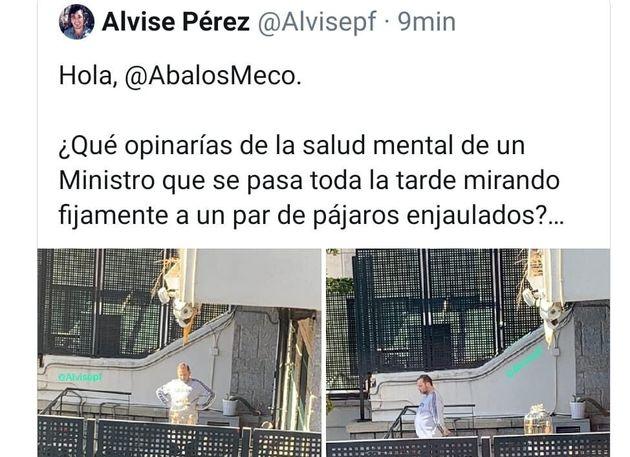 El tuit de Alvise Pérez con las fotos de Ábalos en su