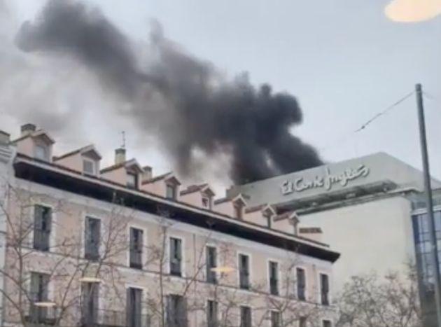 Incendio en El Corte Inglés de la calle Serrano de