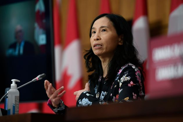 Dr. Theresa Tam speaks during a news conference on Dec. 22,