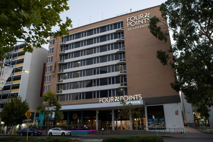 The hotel Four Points by Sheraton is the epicentre of the lockdown where a worker was based on January 31, 2021 in Perth, Australia.