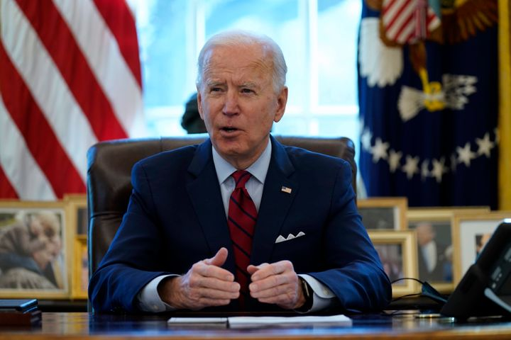 President Joe Biden invited a group of 10 Republican senators to the White House on Monday to hear their proposal for a COVID