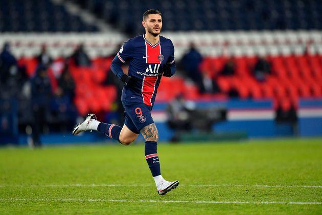 L'attaquant du PSG Mauro Icardi lors d'un match contre Bordeaux au Parc des Princes le 28 novembre 2020...