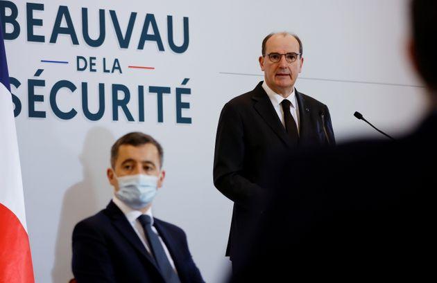 Jean Castex et Gérald Darmanin à l'ouverture du Beauvau de la sécurité au...