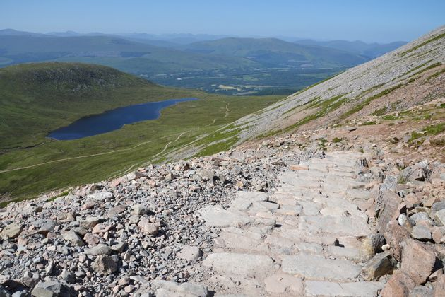 A path to the Ben Nevis summit - the highest mountain in the United