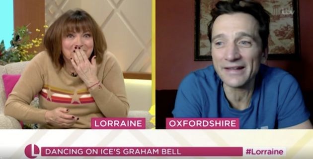 Lorraine Kelly and Graham Bell speaking during Monday's edition of
