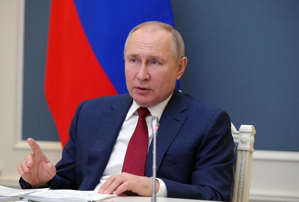 Vladimir Putin durante il World Economic Forum di