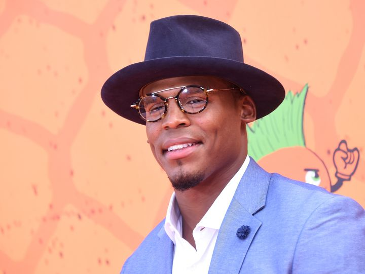 Cam Newton at the Nickelodeon Kids' Choice Sports Awards on July 14, 2016, in Los Angeles.