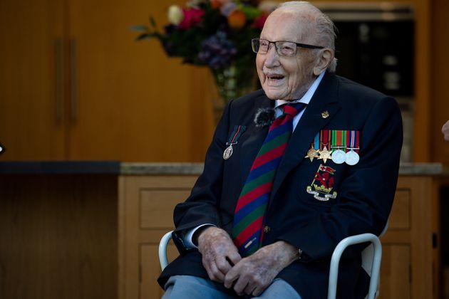 Captain Sir Tom Moore Joined By Family In Hospital After Covid-19