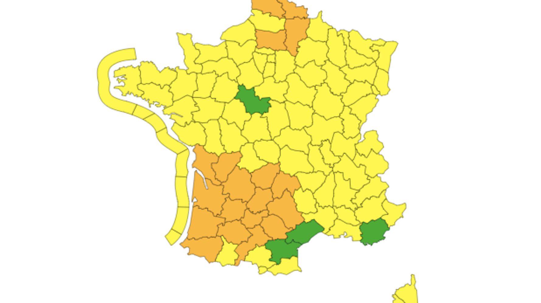 Météo France: Fin de la vigilance rouge en Corrèze, 19 départements en alerte inondations