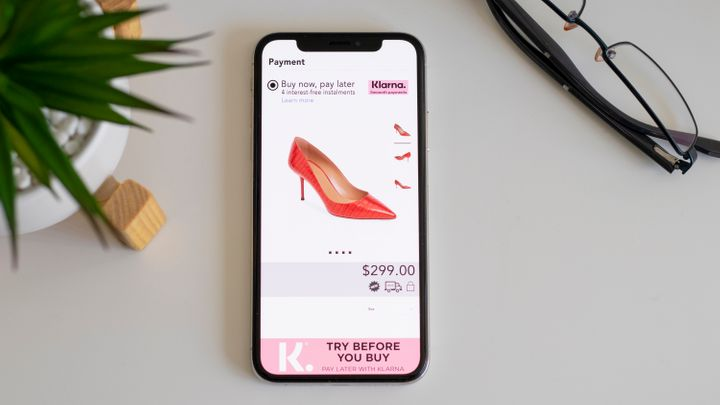 New York, USA - Aug 8, 2019: Klarna is an emerging buy now pay later service provider.