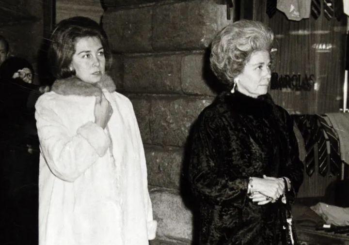 La reina Sofía y la reina Federica en la década de los 60.
