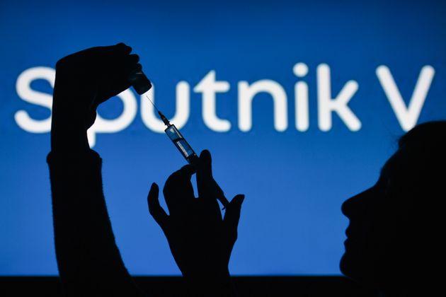 Le vaccin russe Spoutnik V le 1er février 2021, à Dublin, en
