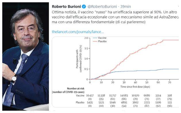Roberto Burioni; il tweet sul vaccino
