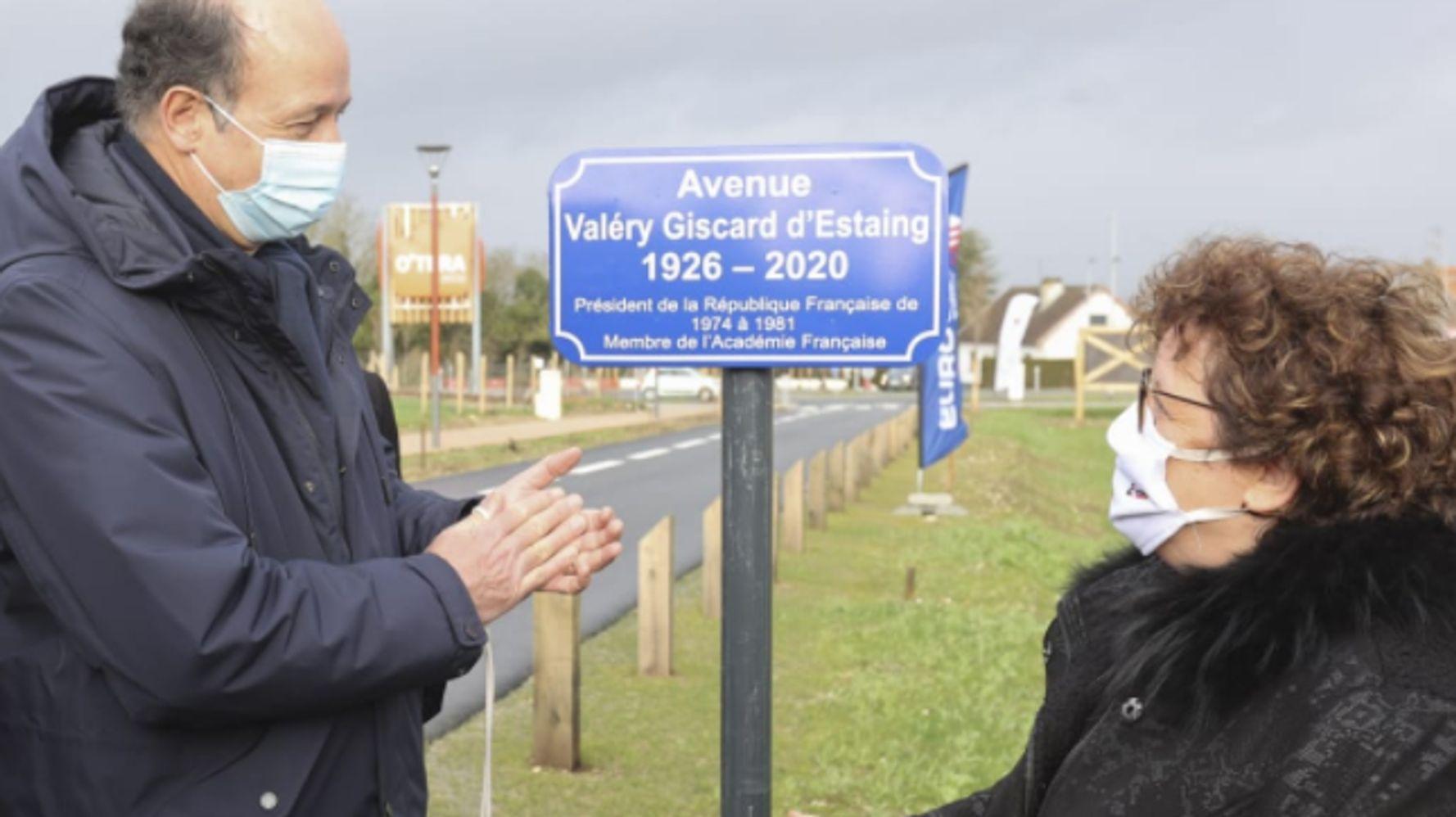 Amiens inaugure la première avenue Valéry Giscard d'Estaing
