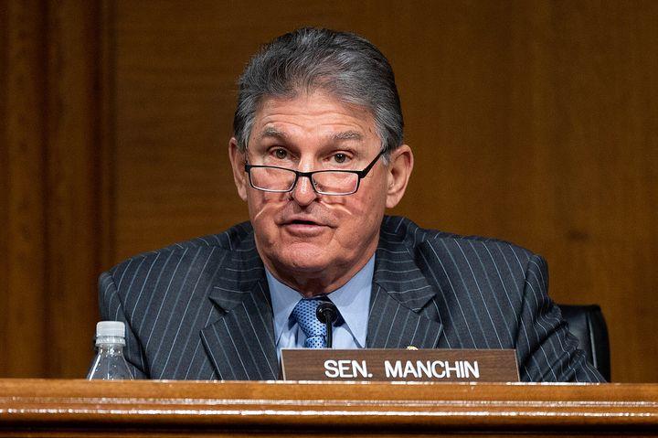 Sen. Joe Manchin (D-W.V.) speaks during a hearing to examine the nomination of Former Michigan Gov. Jennifer Granholm to be s