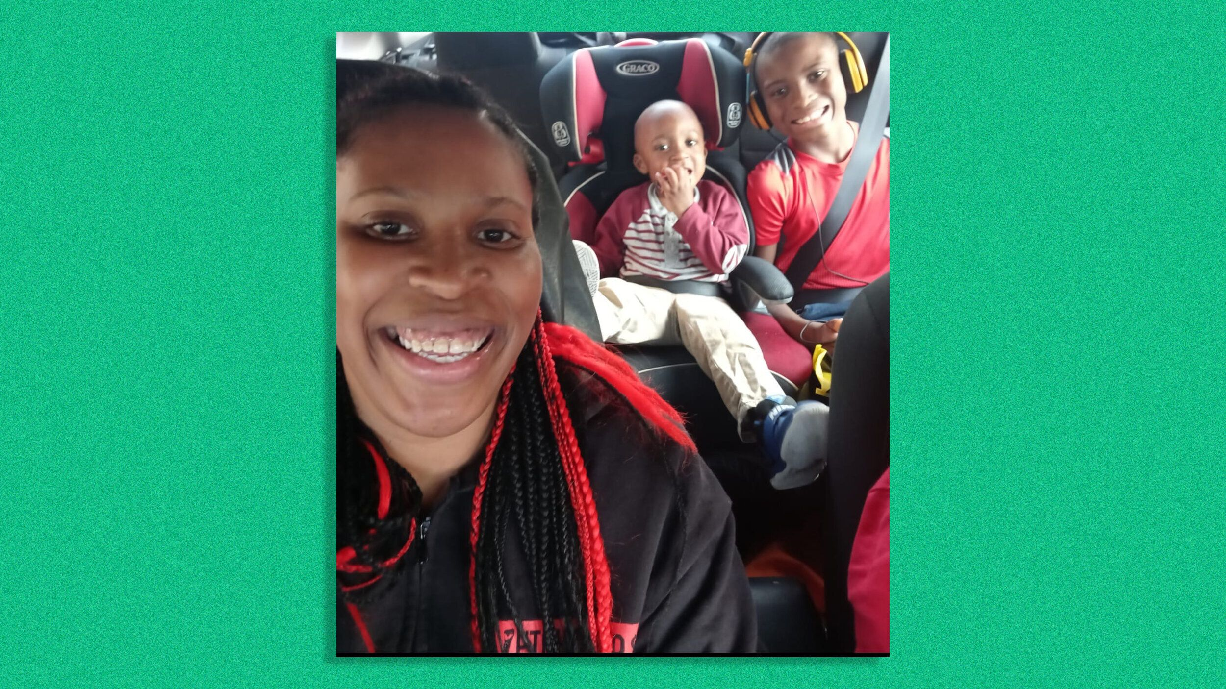 Ieshia Townsend, left, with her children.