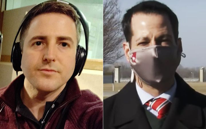 George Hale (left) and Adam Pinsker were tasked with covering federal executions for Indiana Public Media in the final months