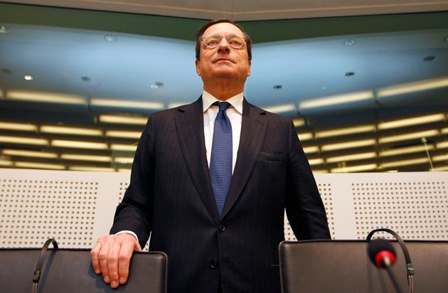 European Central Bank (ECB) President Mario Draghi arrives to attend a European Parliament economic and...