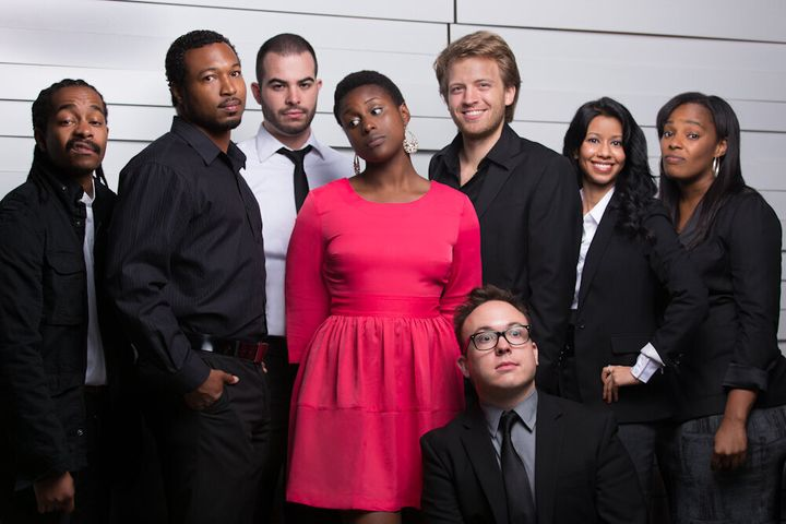 "The cast of Issa Rae's ""Awkward Black Girl"" web series."
