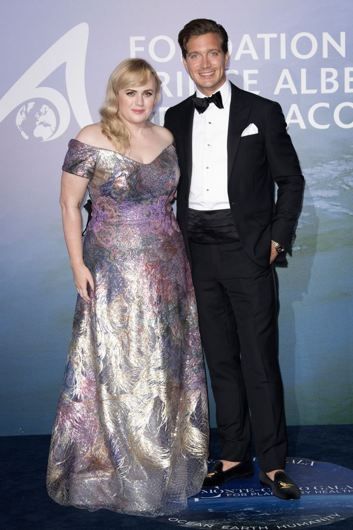 Rebel Wilson and Jacob Busch attend the Monte-Carlo Gala for Planetary Health on September 24 in Monte-Carlo, Monaco.