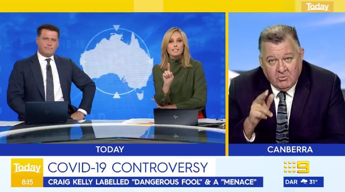"""'Today Show' host Allison Langdon brutally shut down Liberal MP Craig Kelly on Wednesday over his """"unfounded and inaccurate comments"""" about COVID-19."""