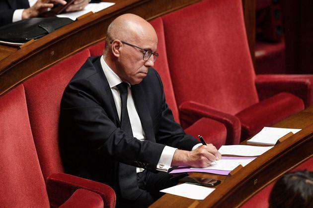 Éric Ciotti, ici photographié en avril 2020 à l'Assemblée nationale, a justifié...