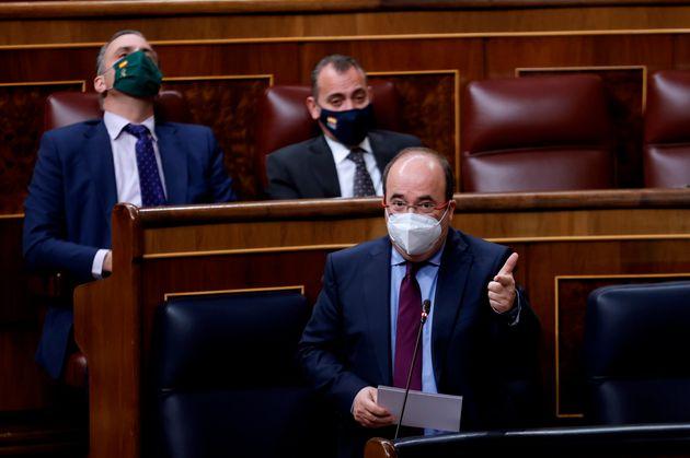 El ministro de Política Territorial y Función Pública, Miquel Iceta, este miércoles, en el