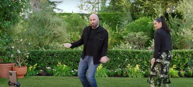 John Travolta and his daughter Ella dancing together in the new