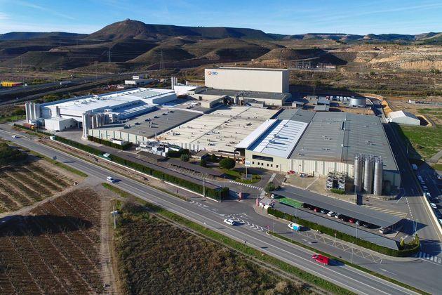 Vista aérea de la fábrica de Becton Dickinson en Fraga