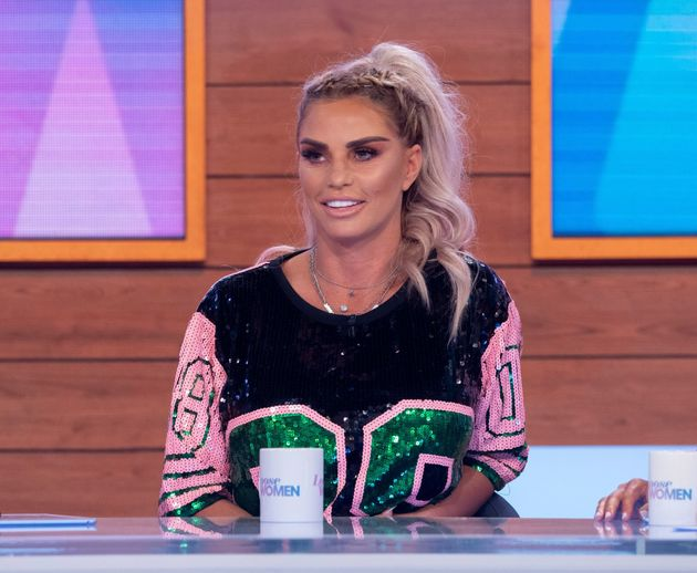 Katie Price during an appearance on Loose Women in