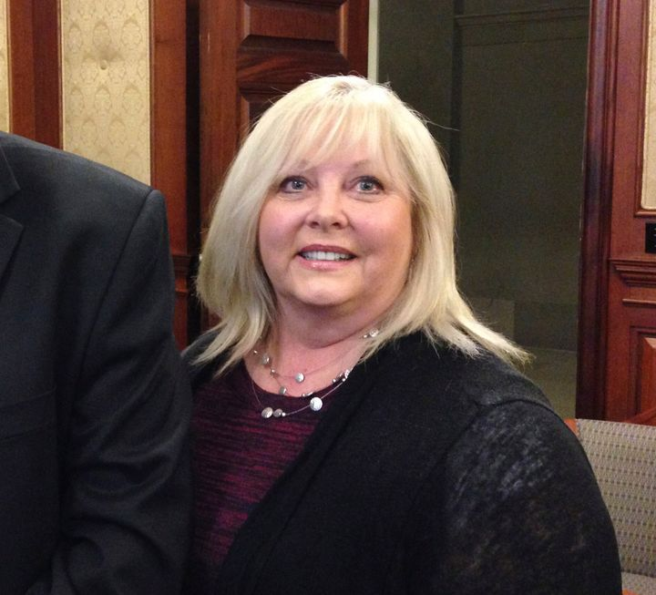 Rep. Tricia Derges, seen in 2017, is accused of illegally providing prescription drugs to clients and making false statements