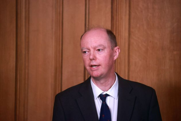 Chief Medical Officer Chris Whitty during a media briefing on coronavirus (COVID-19) in Downing Street,
