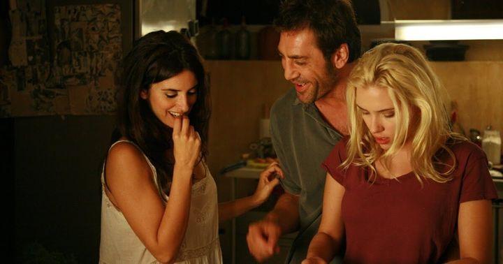 Penélope Cruz, Javier Bardem y Scarlett Johansson en 'Vicky Cristina Barcelona'.