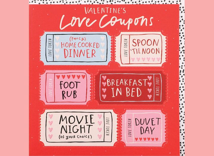 Valentine's love coupons