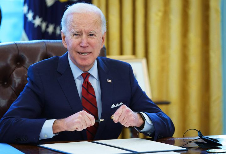 President Joe Biden has struck a very different tone from Donald Trump as the boss of the federal workforce.