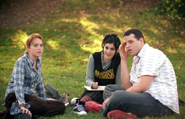 Lindsay Lohan, Lizzy Caplan and Daniel Franzese in Mean