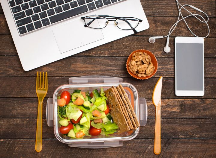 If this looks familiar, it's time to consider stepping away from your desk to eat lunch.