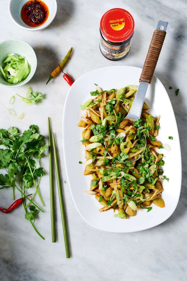 Ken Hom's Stir-fried Cucumbers with Hot Spices