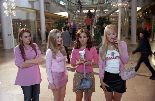 The Plastics wearing pink... because it's Wednesday,