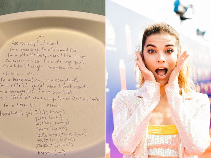Canadian actress Annie Murphy is auctioneering the paper plate, on which she scribbled the lyrics to her surprise Billboard chart-topping hit, to benefit Eva's Initiatives for Homeless Youth.