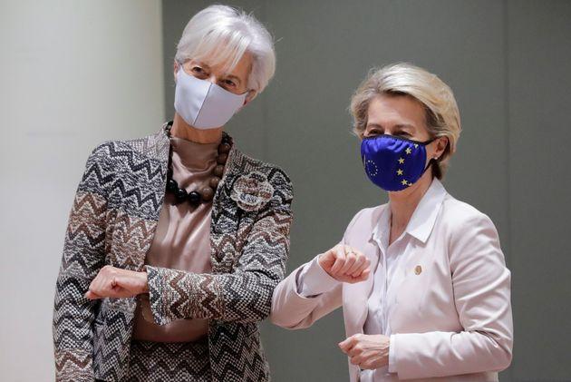 European Central Bank (ECB) President Christine Lagarde and European Commission President Ursula von...
